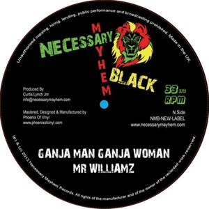 KILLA MOSQUITO FT MR WILLIAMZ - GANJA MAN, GANJA WOMAN / ROBODUB 54765